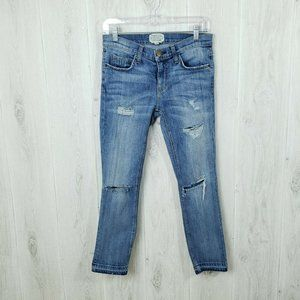 Current/Elliott 25 The Cropped Straight Jeans